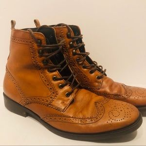 Johnston Murphy Est 1850 Brown Leather Oxford Boot